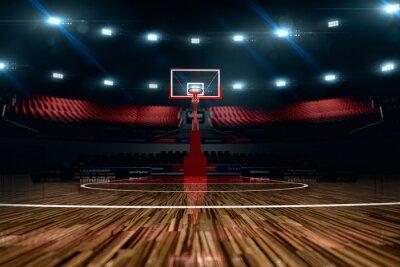Plakat Boisko do koszykówki. Areny sportowe.