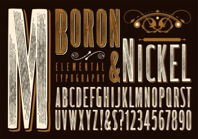 Plakat Boron & Nickel Rustic Alphabet