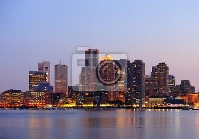 Plakat Boston o zmierzchu