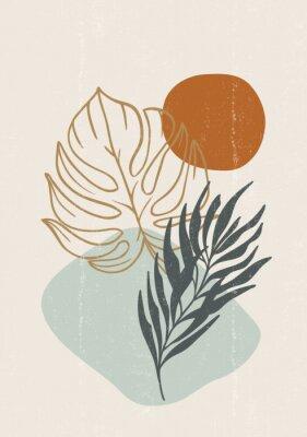Plakat Botanical print boho minimalist printable wall art