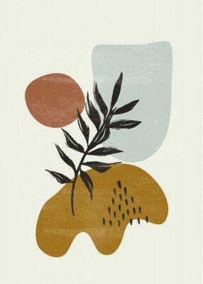 Plakat Botanical vintage print boho sun minimalist wall art abstract home decor floral print