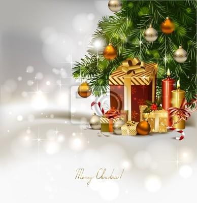 Plakat Boże Narodzenie z płonących świec