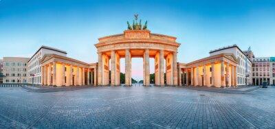 Plakat Brandenburger Tor (Brama Brandenburska), panorama, orientacyjny i