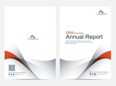 Plakat Brochure or flyer layout template, annual report cover design background