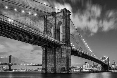 Plakat Brooklyn Bridge and Clouds, Studium 1