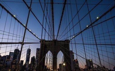 Plakat Brooklyn bridge at night