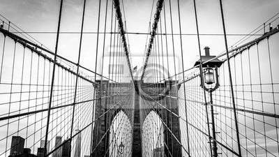 Plakat brooklyn bridge in new york