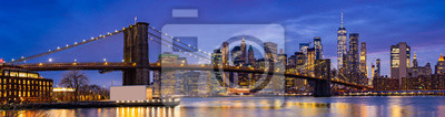 Plakat Brooklyn bridge New York