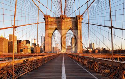 Plakat Brooklyn Bridge, Nowy Jork, nikt