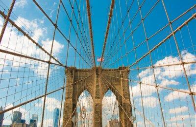 Plakat Brooklyn Bridge, Nowy Jork, USA