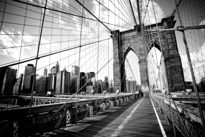 Plakat Brooklyn Bridge, Nowy Jork. USA.