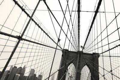 Plakat Brooklyn Bridge, Sepia