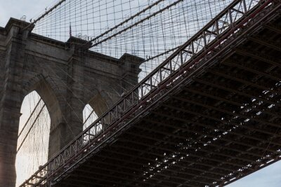 Plakat Brooklyn Bridge, side view of part of the bridge and one of the arches
