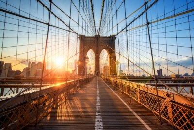 Plakat Brooklyn Bridge w Nowym Jorku