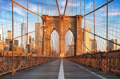 Plakat Brooklyn Bridge w Nowym Jorku, nikt