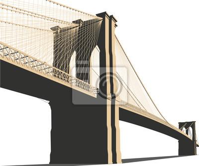Plakat Brooklyn Bridge Wektor