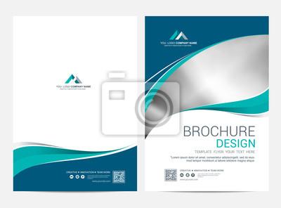 Plakat Broszura szablonu ulotki projekt tło wektor