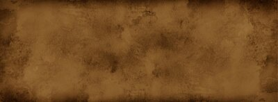 Plakat Brown background with grunge texture, watercolor painted mottled brown background with vintage marbled textured design on cloudy sepia brown banner, distressed old antique parchment paper
