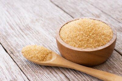 Plakat brown sugar in a bowl