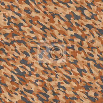 Plakat Brown wojskowy kamuflaż bezszwowe tło lub tekstury