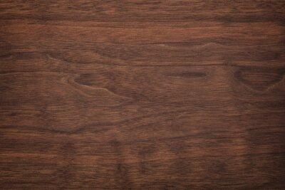 Plakat brown wood texture, dark wood background. rustic table boards as wallpaper