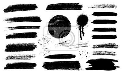 Plakat Brush strokes templates,  vector grunge paintbrush set