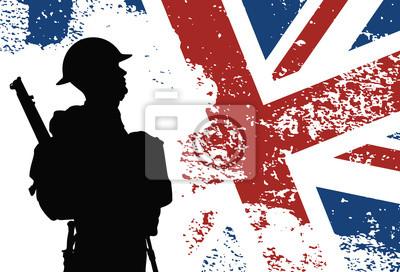 Brytyjski żołnierz Ii Wojny światowej Plakaty Redro