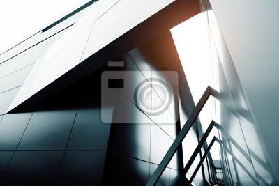 Plakat Budynek komercyjny wieżowiec ze szkła