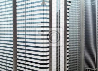 Budynki Tokio w Tokio, Japonia.