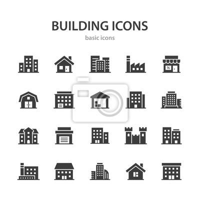 Plakat Building icons.