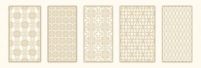 Plakat Bundle arabian seamless pattern with arabic and islamic ornament