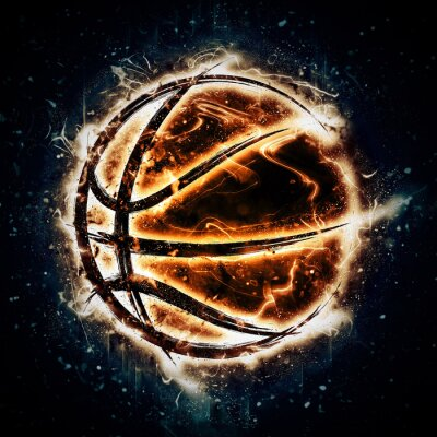 Plakat Burning basketball