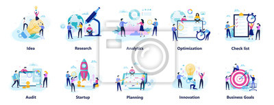 Plakat Business people character set. Person in suit