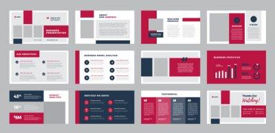 Plakat Business Presentation Brochure Guide Design or Pitch Deck Slide Template or Sales Guide Slider