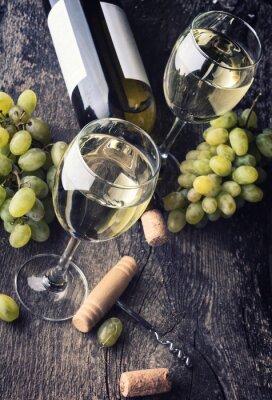 Plakat Butelka wina białego