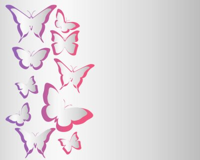 Plakat Butterfly background