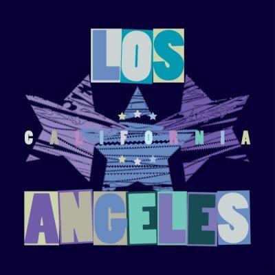 Plakat California T-shirt mody - wektory