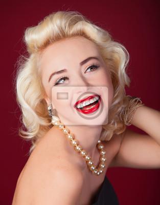 Plakat Całkiem blond dziewczyna jak Marilyn Monroe