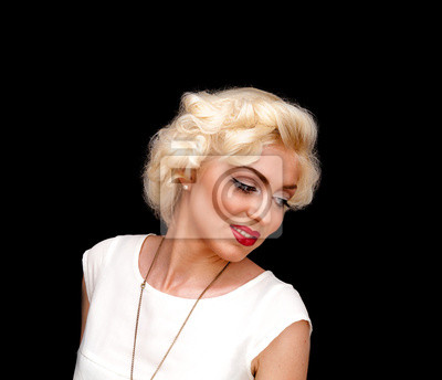Plakat Całkiem blond jak Marilyn Monroe na czarnym
