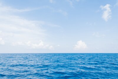 Plakat Calm Sea and Blue Sky Background in Maldives