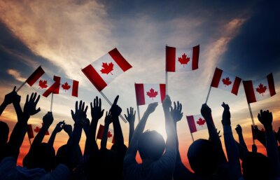 Plakat Canada Canadian Diverse Unity Togetherness Concept
