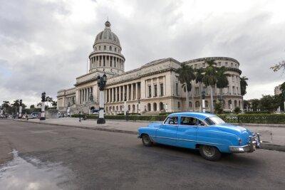 Plakat Capitolio z rocznika samochodu, Hawana