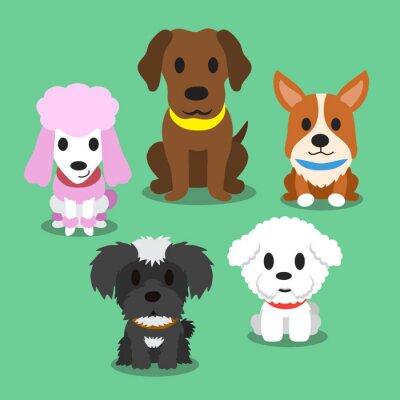 Plakat Cartoon psy stojące