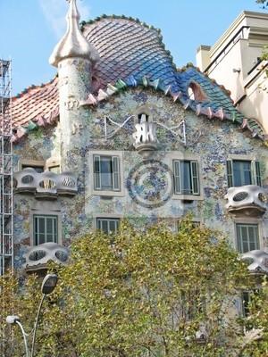 Plakat Casa Batlló w Barcelonie