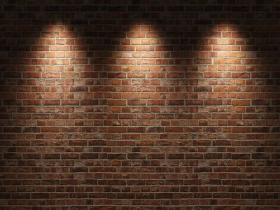 Plakat Ceglany mur