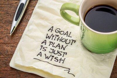Plakat Celem planu jest po prostu bez życzenie
