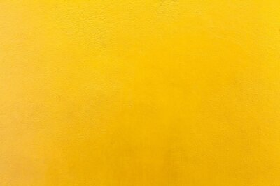 Plakat Cement wall painted yellow texture and background seamless