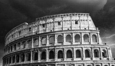 Plakat Charakterystycznym starożytny Colosseum Rzym