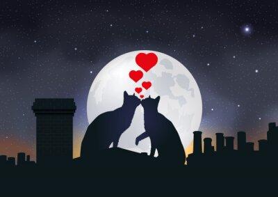 Plakat CHAT Amour-Toit