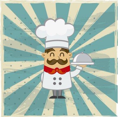 Plakat Chef vector